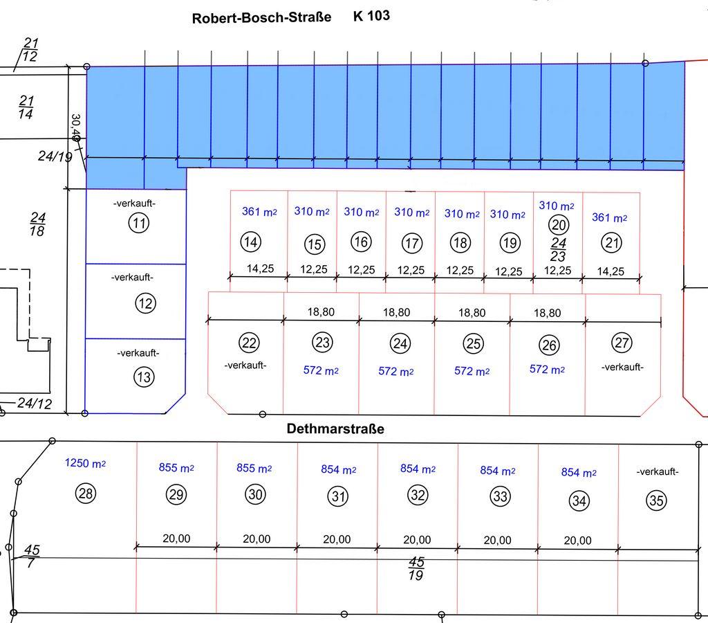 Aufteilungsplan Neuhof - mit Reihenhäusern - groß