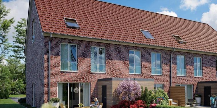 Stimmige Optik: Von außen betrachtet bilden die Häuser ein architektonisch harmonisches Ensemble.
