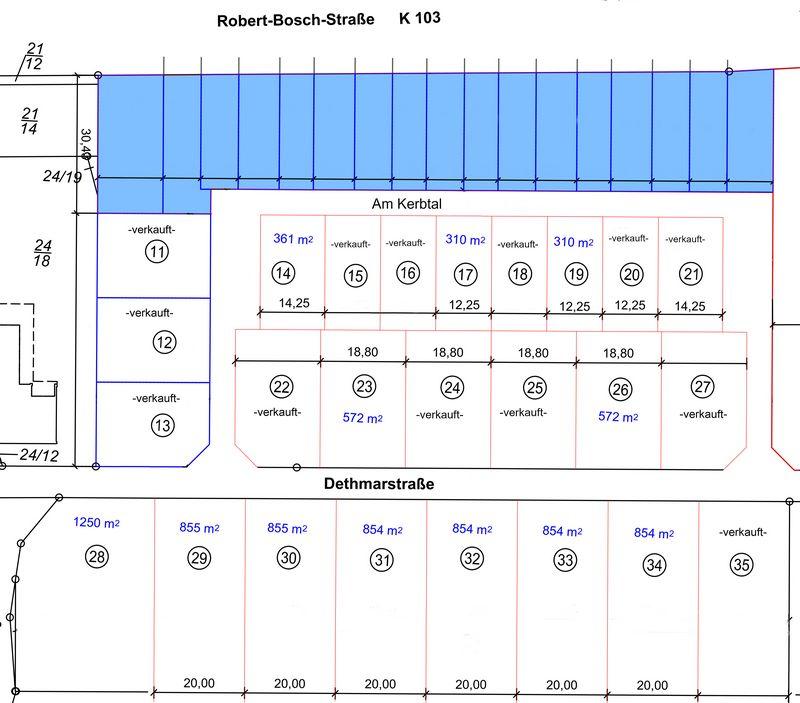 Aufteilungsplan Neuhof - mit Reihenhäusern - 24-09-2018