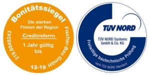 Siegel-Tuev-Creditreform-Fischer-Bau