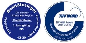 Siegel-Tuev-Creditreform-Fischer-Bau-300x150